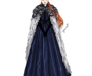 winter is coming, a song of ice and fire, and beautiful red hair girl image