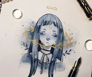 art, watercolors, and colors image