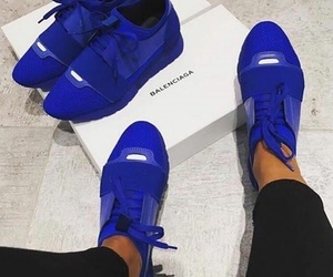 Balenciaga, blue, and shoes image