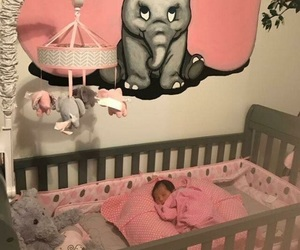 crib, decor, and dumbo image