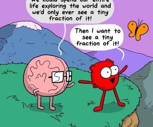 awkward, brain, and heart image