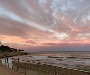 atardecer, beach, and colores image