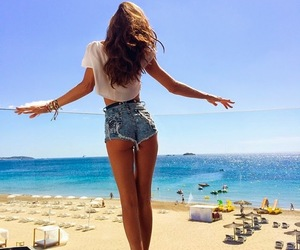 beach, girl, and goals image