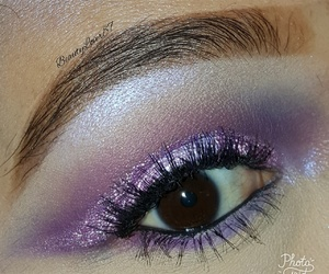 lashes, makeup, and purple image