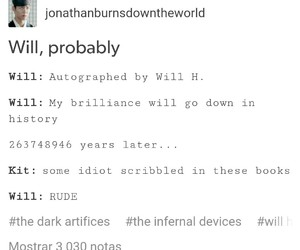 will herondale, the dark artifices, and london institute image