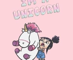 rosa, unicorn, and wallpaper image
