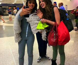 airport, happy, and selfie image