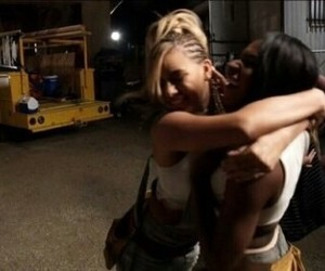 behind the scenes, hugging, and work from home image