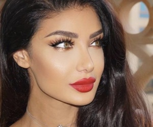 beautiful, makeup, and red image
