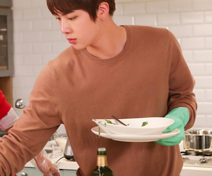 cooking, seokjin, and jin image