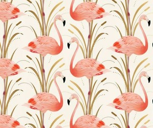 flamingo, pattern, and background image