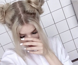 girl, nails, and tumblr image