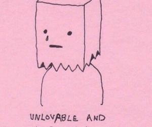 pink, ugly, and sad image