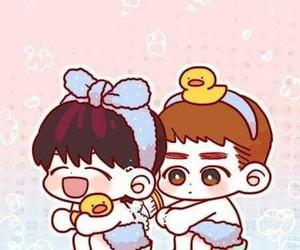 exo, kyungsoo, and baekhyun image