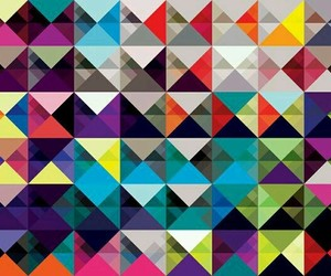 background, triangles, and color image
