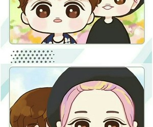 exo, chanyeol, and suho image