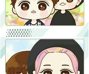 exo, chanyeol, and exo chibi image