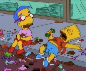chocolate, simpsons, and bart image