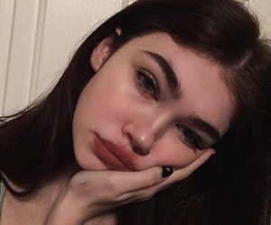 girl, aesthetic, and makeup image