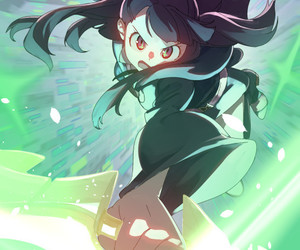 anime, anime girl, and little witch academia image