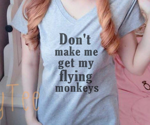 etsy, flying monkeys, and tee shirt image