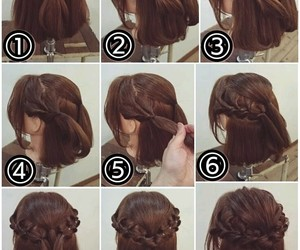 hairstyle, braids, and updo image