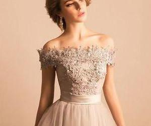tulle prom dresses, lace homecoming dresses, and beading prom dress image