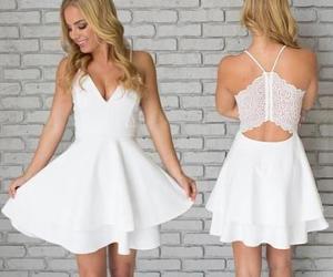 cocktail dresses, graduation dresses, and white prom dress image