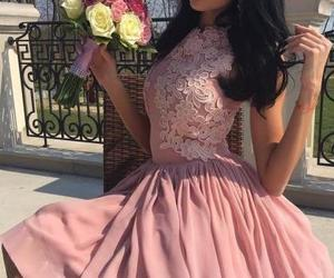 sleeveless prom dresses, pink homecoming dress, and short homecoming dress image