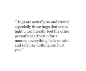 quotes and hug image