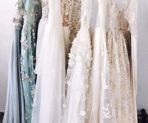 dress, hair, and wedding dress image