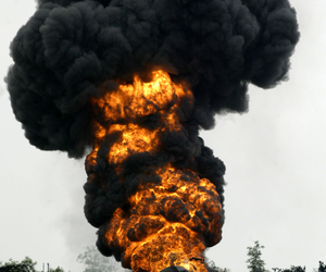 fire, smoke, and explosion image