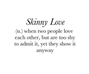 love, skinny love, and quotes image