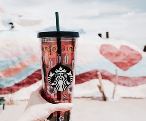 starbucks, summer, and coffee image
