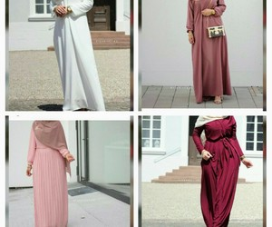 hijab, outfit, and montage image
