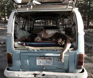 car, sleep, and couple image