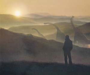 art, beauty, and dinosaurs image