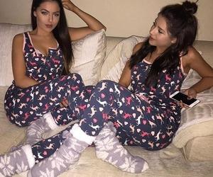 sisters, best friends, and pyjama image