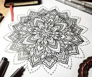 art, illustration, and linework image