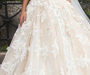 beautiful, bride, and attractive image
