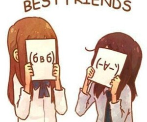 anime, best friends, and girl image