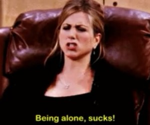 friends, alone, and rachel image