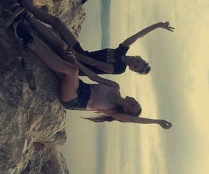 hiking, calpe, and bestfriend image