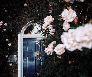 door, garden, and landscape image