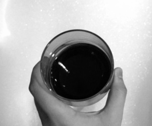 bath, red wine, and black and white image