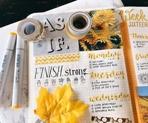yellow, inspiration, and journal image