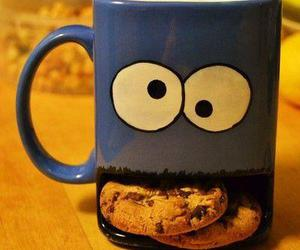 Cookies, cup, and cookie image