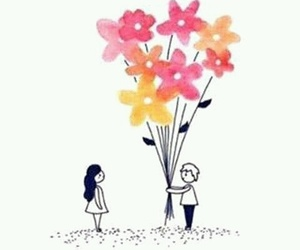 love, flowers, and art image