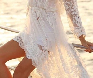 boho, dress, and lace image