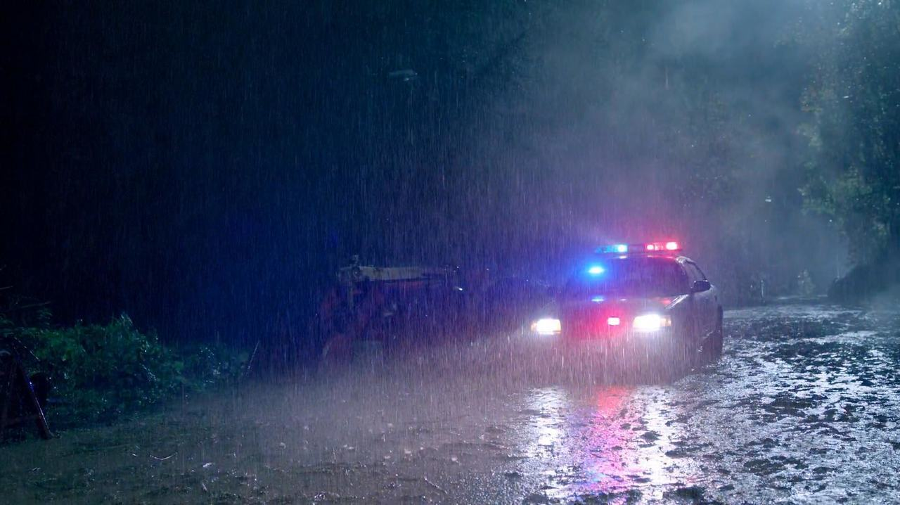 police, rain, and riverdale image